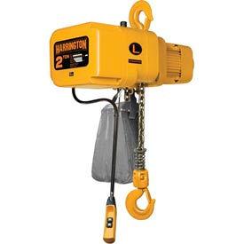 NER Electric Chain Hoist w/ Hook Suspension - 2 Ton, 15' Lift, 14 ft/min, 460V