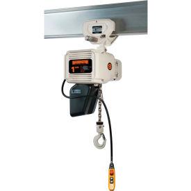 Harrington NERP020LD-FG-10 NER Food Grade Hoist with Push Trolley 2 Ton Capacity, 460V by