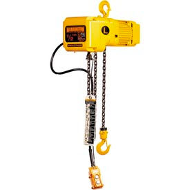 SNER Electric Chain Hoist w/ Hook Suspension - 1/2 Ton, 15' Lift, 7 ft/min, 115V