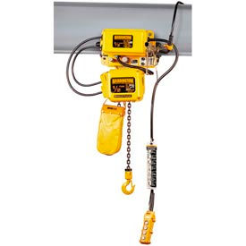 SNER Electric Chain Hoist w/ Motor Trolley - 1 Ton, 20' Lift, 14 ft/min, 115V