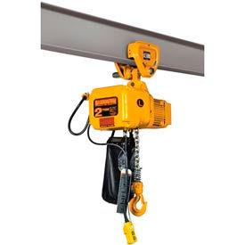 SNER Electric Chain Hoist w/ Push Trolley - 3 Ton, 10' Lift, 3.5 ft/min, 115V
