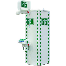 Justrite® Temperature Controlled Outdoor 240V Safety Shower and Eye/Face Wash, 79 Gal, 30351