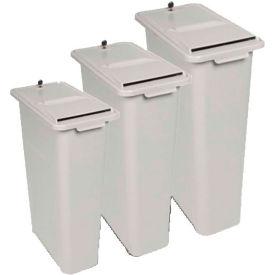 """HSM® 24"""" Lockable Shredder Bin - 16-Gallon Capacity - Gray"""