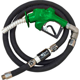 "Husky VIIIS HD Press. Act. Diesel Nozzle w/Waffle Splash Guard 1""x18'9"" Hardwall Whip Hose-10604-03"
