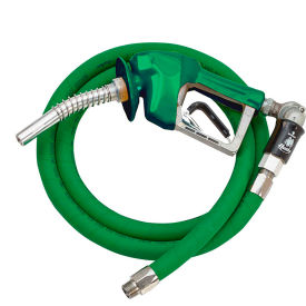 "Husky XS LD Press Active Dsl Noz w/Waffle Splash Guard 3/4""x9'5"" Green Hardwall Curb Hose-10677-03"