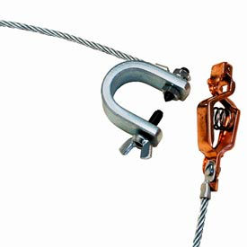 Hubbell GCSI-AC-10 Alligator Clip & C-Clamp w/ 10 Ft. 7X19 Insulated Stranded Flex. Steel Cable