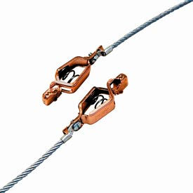Hubbell GCSP-AA-03 Two Alligator Clips w/ 3 Ft. 7X19 Stranded Flex. Steel Cable