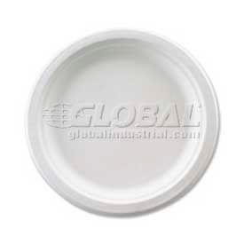 "Huhtamaki Plastic Plates, 6-3/4"" Diameter, Microwavable, Recycled Fiber, 125/Pack,... by"