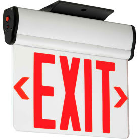 Hubbell CELS1RNE LED Edge-Lit Exit, Single-Face, Red Letters, Surface Mount, w/Battery Back-up
