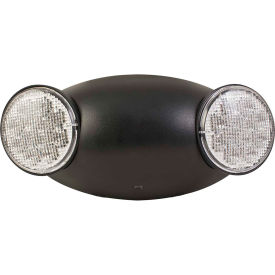 Hubbell CU2B LED Black Emergency Unit w/ Adjustable Heads