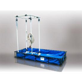 "Husky Aluminum/PVC Decontamination Pool With Shower ALFDP-55WS - 60""Lx84""Wx205""H 180 Gal Cap. Blue"