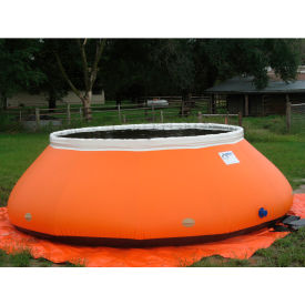 """Husky High-Sided Self Supporting Tank HS-3000 - 174"""" Dia. x 48""""H 3000 Gallon Cap. Red"""