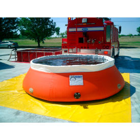 """Husky Low-Sided Self Supporting Tank LS-1500 - 140"""" Dia. x 33""""H 1500 Gallon Cap. Red"""