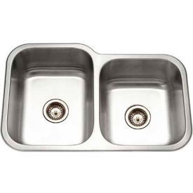 Houzer EC-3208SR-1 Undermount Stainless Steel 60/40 Double Bowl Kitchen Sink