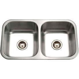 Houzer ED-3108-1 Undermount Stainless Steel 50/50 Double Bowl Kitchen Sink