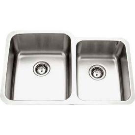 Houzer MES-3221-1 Undermount Stainless Steel 60/40 Double Bowl Kitchen Sink