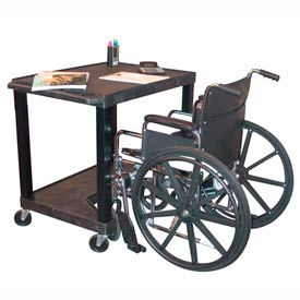 """Tuffy Increased Access Workstation - 32""""W x 24""""D x 38""""H Black"""