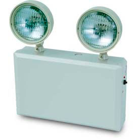Howard Lighting Emergency Light, 120/277V, Plastic, White Reflector, Adjustable