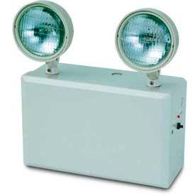 Howard Lighting Emergency Light, 100W, 120/277V, Plastic, White Reflector, Adjustable