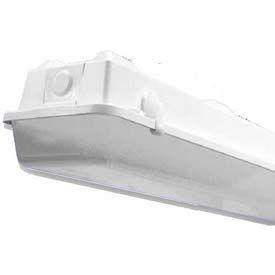 Howard Lighting Vaporproof Strip, 120-277V, 32W T8, 2 Lamp, Acrylic, White Reflector