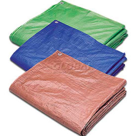 Hygrade 100'L X 100'W Poly Tarp, Blue 5 Mil - MT-100100