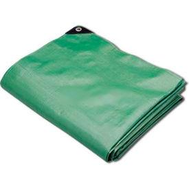 Hygrade Heavy Duty Super Cover Poly Tarp 10 Mil, Green/Black, 8'L X 10'W - MTGB-810