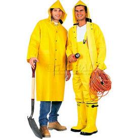 ComfitWear® 2-Piece 48 Inch Raincoat, Yellow, Polyester, 3XL - Pkg Qty 10