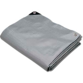 Hygrade Heavy Duty Super Cover Poly Tarp 10 Mil, Silver/Black, 16'L X 20'W - STH-1620