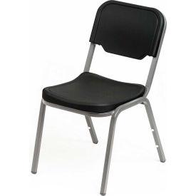 Iceberg Plastic Stack Chair - Black - Pack of 4 - Rough 'N Ready Series