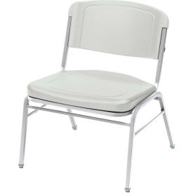 Iceberg Big and Tall Stack Chair - Platinum - Pack of 4 - Rough 'N Ready Series