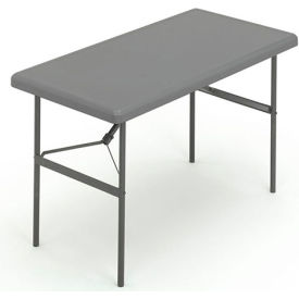 """Iceberg IndestrucTable TOO™ Folding Table - 48"""" x 24"""" - Charcoal - 1200 Series"""