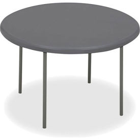 "Iceberg IndestrucTable TOO™ Folding Table - 48"" Round - Charcoal - 1200 Series"