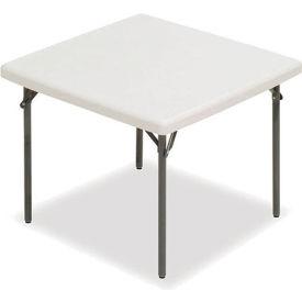 "Iceberg IndestrucTable TOO™ Folding Table - 37"" Square - Platinum - 1200 Series"