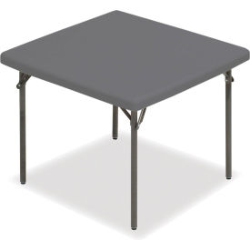 "Iceberg IndestrucTable TOO™ Folding Table - 37"" Square - Charcoal - 1200 Series"