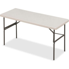 """Iceberg IndestrucTable TOO™ Folding Table - 60"""" x 24"""" - Platinum - 1200 Series"""