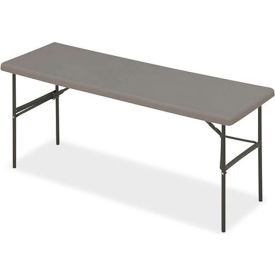 """Iceberg IndestrucTable TOO™ Folding Table - 72"""" x 24"""" - Charcoal - 1200 Series"""