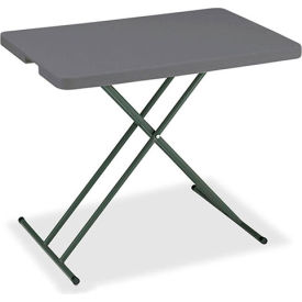 """Iceberg IndestrucTable TOO™ Folding Table - 30"""" x 20"""" Personal - Charcoal - 1200 Series"""