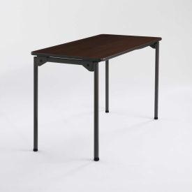 "Iceberg Maxx Legroom™ Wood Folding Table - 48"" x 24"" - Walnut"