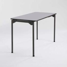 "Iceberg Maxx Legroom™ Wood Folding Table - 48"" x 24"" - Gray"