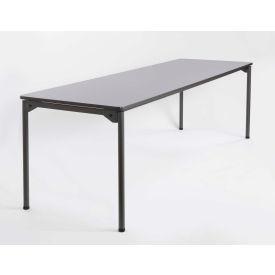 "Iceberg Maxx Legroom™ Wood Folding Table - 96"" x 30"" - Gray"