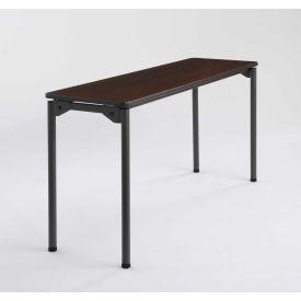 "Iceberg Maxx Legroom™ Wood Folding Table - 60"" x 18"" - Walnut"