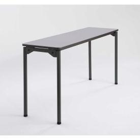 "Iceberg Maxx Legroom™ Wood Folding Table - 60"" x 18"" - Gray"