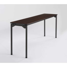 "Iceberg Maxx Legroom™ Wood Folding Table - 72"" x 18"" - Walnut"