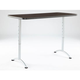 "Iceberg ARC Adjustable Height Conference Table - 30"" x 60"" Rectangular - Gray Walnut"