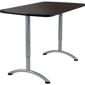 "Iceberg ARC Adjustable Height Conference Table - 30"" x 60"" Rectangular - Graphite"