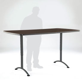 "Iceberg ARC Adjustable Height Conference Table - 36"" x 72"" Rectangular - Walnut"