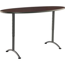 "Iceberg ARC Adjustable Height Conference Table - 36"" x 72"" Oval - Walnut"
