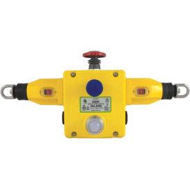 IDEM 141002B GLHD Rope Pull Switch W/E Stops/LED, 4NC 2NO, 110/120v, 1/2NPT, Die Cast
