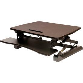 AIRLIFT® Pneumatic Sit-to-Stand Adjustable Desktop Converter - Black