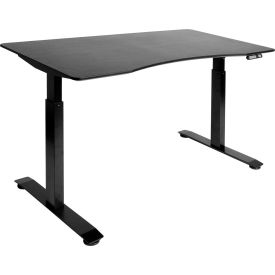 """AIRLIFT™ S2 Electric Height Adjust Desk - 54""""W x 30""""D x 28.7""""-48.4""""H - Black with Black Frame"""